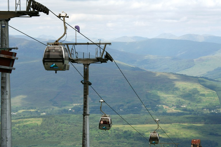 Gondola at Nevis range, Fort William, Scotland. Image shot 2009. Exact date unknown.