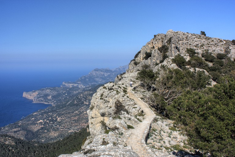 Archduke?s walk near Valldemossa, named after Ludwig Salvator, Serra de Tramuntana, Majorca Island, Spain