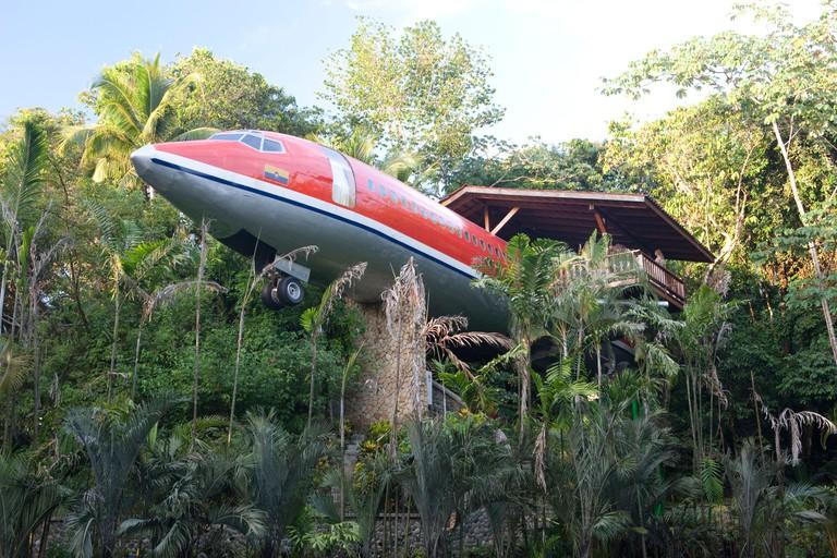 Boeing 727 room at the Hotel Costa Verde, Manuel Antonio, Costa Rica