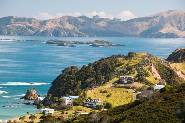 Russell,Tapeka Point,Maiki Hill, Lookout to Russell Harbour,Kororareka Bay, Oneroa Beach,Bay of Islands,North Island,New Zealand