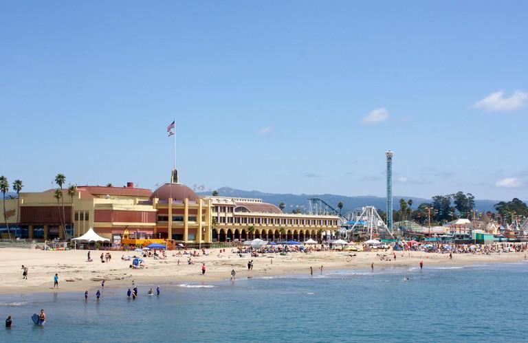 Activity along the Santa Cruz Beach Boardwalk in Santa Cruz, California. Image shot 08/2011. Exact date unknown.