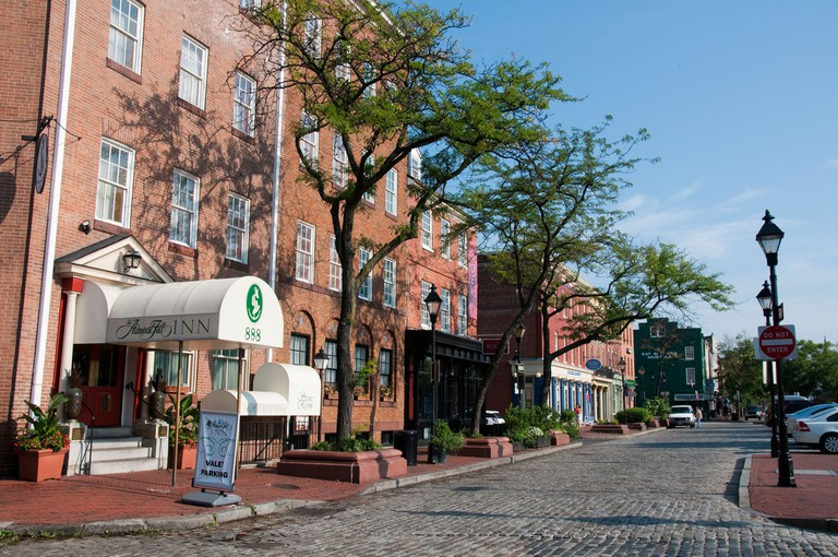 Admiral Fell Inn in Fells Point in Baltimore Maryland USA