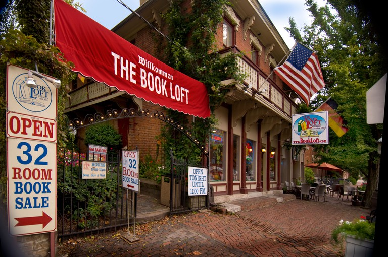 The Book Loft, a famous city-block long bookstore, in the German Village section of Columbus Ohio.