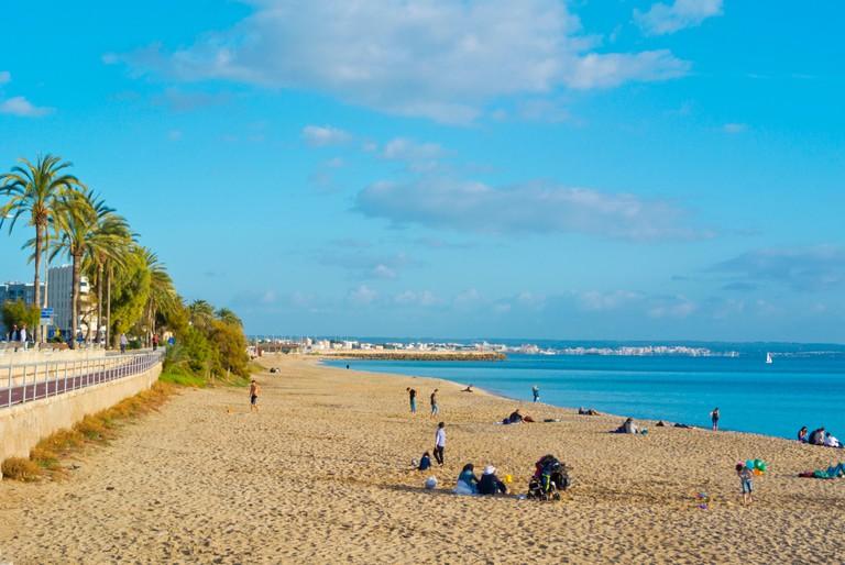 Pere Antoni beach, Can Pere Antoni, Palma, Mallorca, Balearic islands, Spain