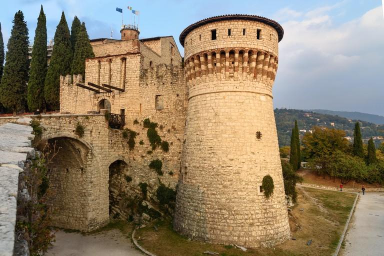 Medieval castle of Brescia or Castello di Brescia. Italy