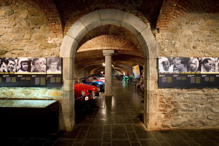 Museum of the Spa-Francorchamps racing circuit in the Stavelot Abbey, Ardennes, Belgium