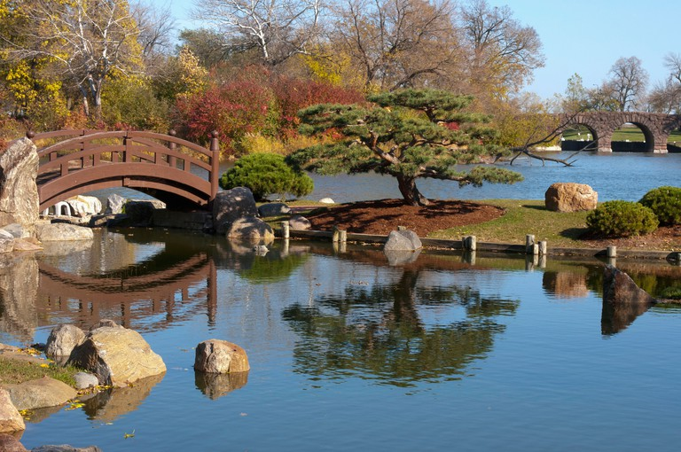 Chicago, Osaka Japanese Garden in Jackson Park, Hyde Park neighborhood