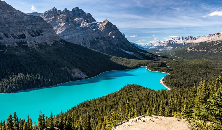 Peyto Lake in Banff National Park, Alberta, Canada,, from the Bow Summit Lookout