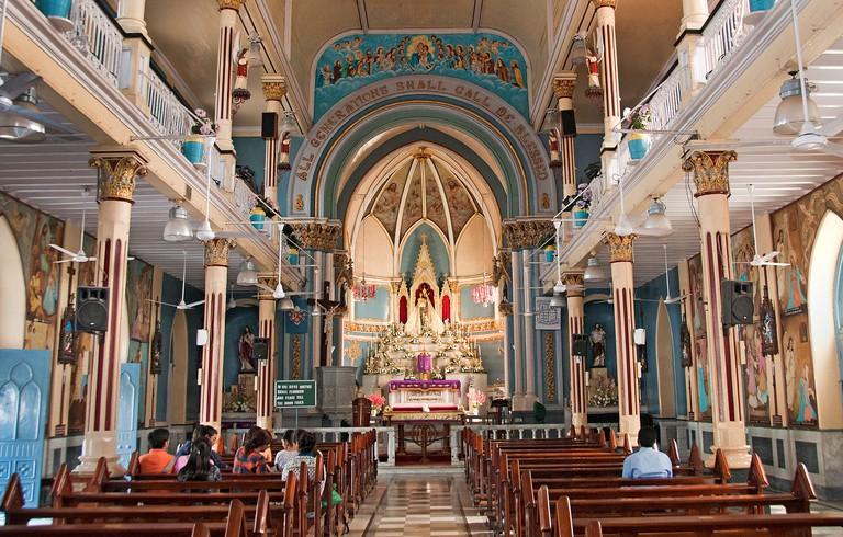 The Basilica of Our Lady of the Mount ( Mount Mary Church ) is a Roman Catholic Basilica West Bandra - Mumbai ( Bombay ) India
