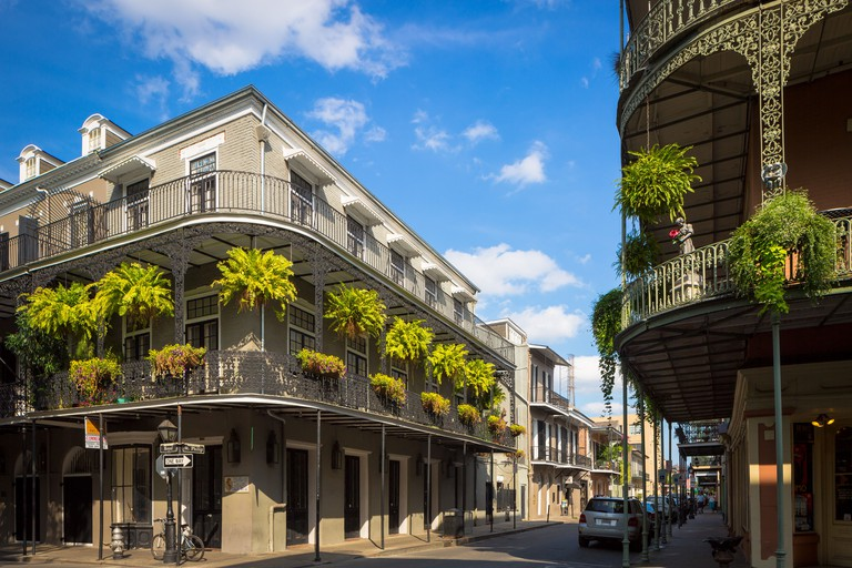 Typical building in the French Quarter area of New Orleans, Louisiana.