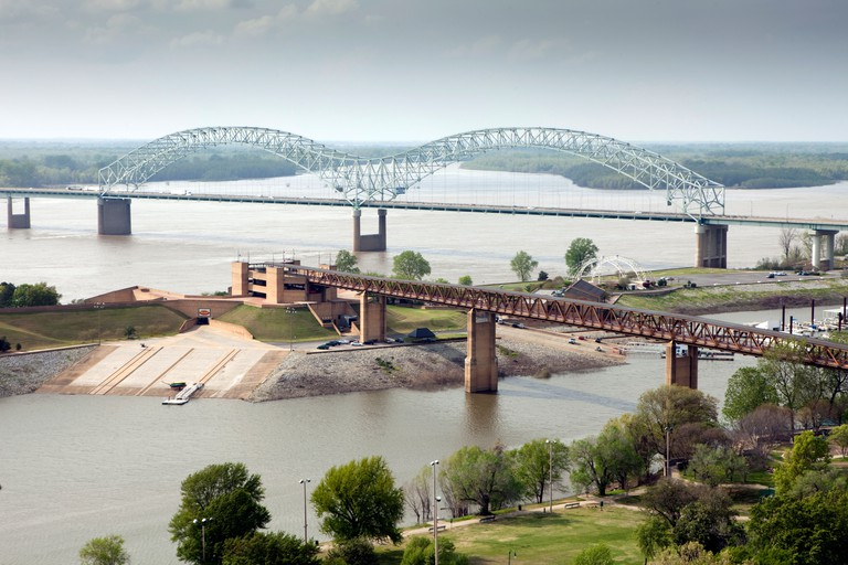 A view of Mud Island River Park in Memphis, Tennessee