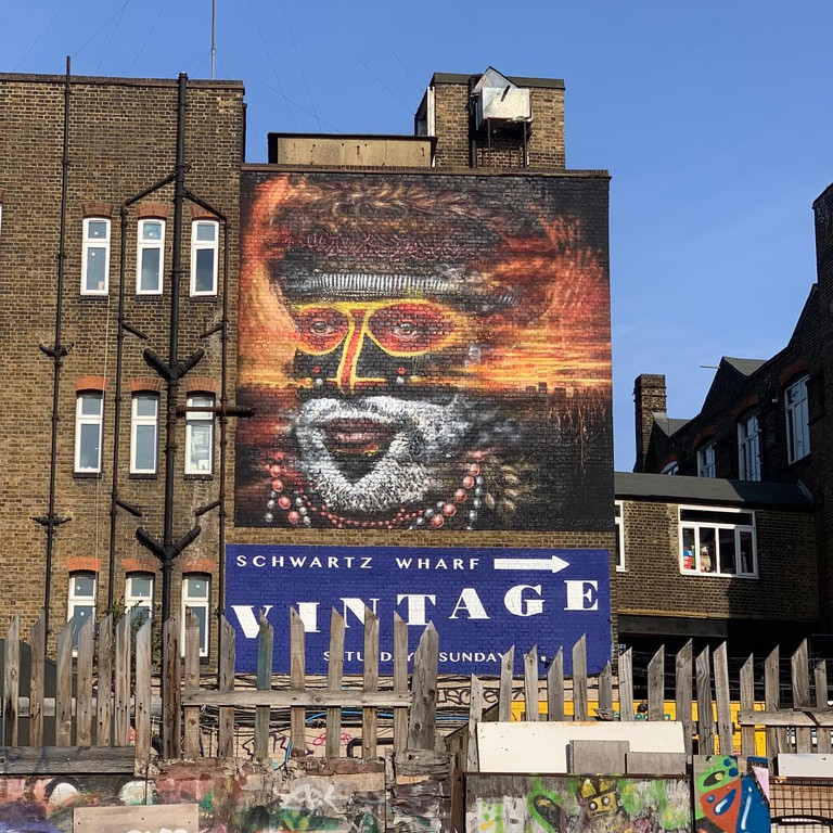 Dale Grimshaw - London Mural Festival - 92 White Post Ln, Hackney Wick, E9 5EN