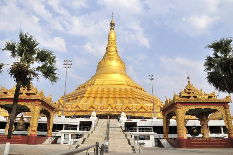 Mumbai. 9th Apr, 2014. Photo taken on April 9, 2014 shows the Global Vipassana Pagoda near Mumbai, India. The shape of pagoda is a copy of the Shwedagon Pagoda in Yangon, Myanmar. The inside of the pagoda is hollow and serves as a very large meditation ha
