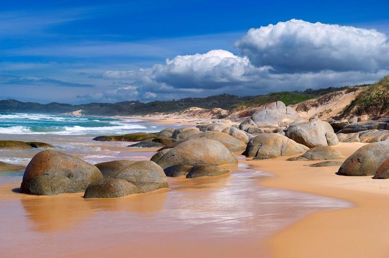 Australia, cliff, rock, Kangaroo Island, sea, stones, Victoria, waves, Wingan Inlet, stones, coast