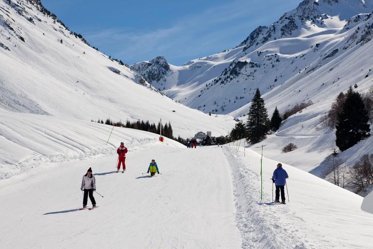 France Hautes Pyrenees Le Grand Tourmalet the ski resort of Bareges La Mongie Bareges