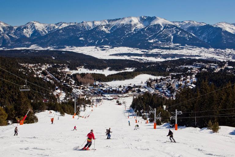 France Pyrenees Orientales ski resort of Font Romeu Pyrenees 2000 Pyrenees 2000