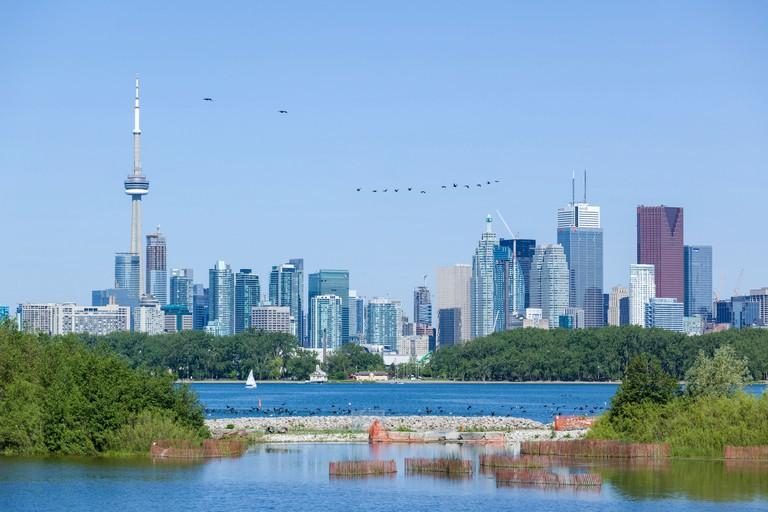 Skyline from Tommy Thompson Park Toronto Ontario Canada