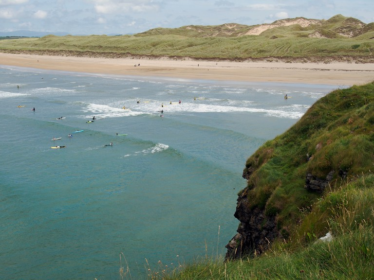 Tullan Strand, a 1 mile ,long surf beach extending north from Bundoran, County Donegal, Ireland. Image shot 07/2014. Exact date unknown.