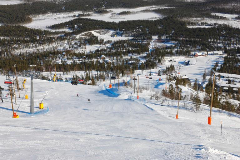 Finland ski center Pyha, Lapland