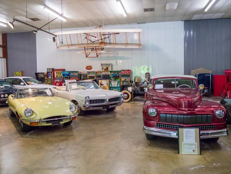 Cars on display inside the  Sarasota Classic Car Museum in Sarasota Florida
