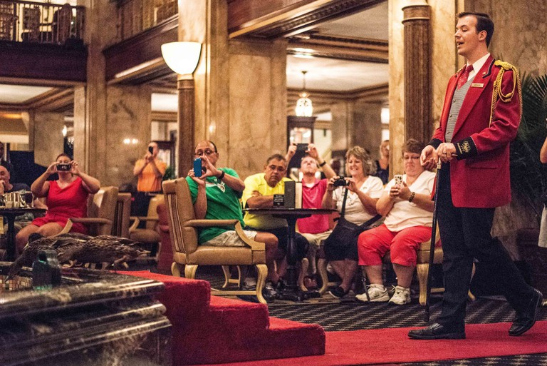 The Peabody Hotel ,Downtown Memphis, Tennessee.Peabody Ducks