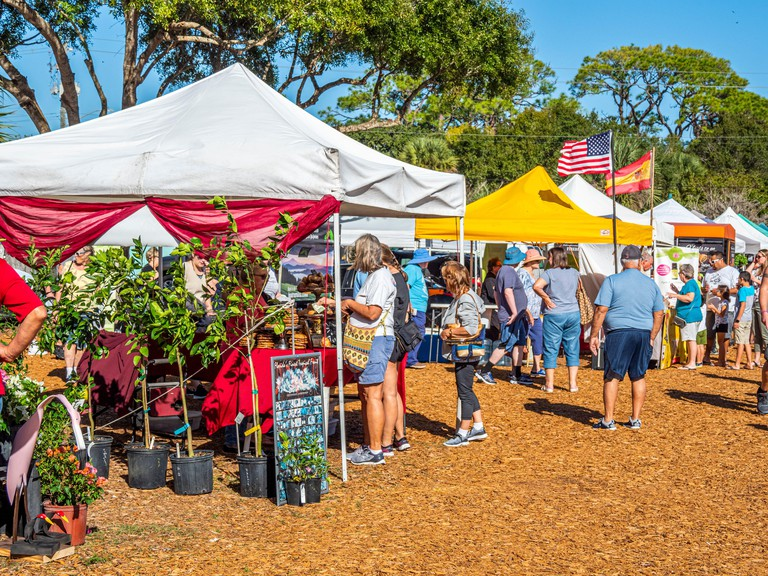 The Englewood Farmers Market an open air market in Englewood Florida