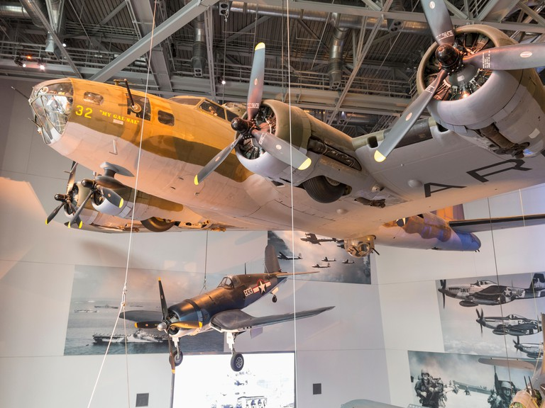 Fighter aircraft in the National WWII Museum, New Orleans, Louisiana, USA