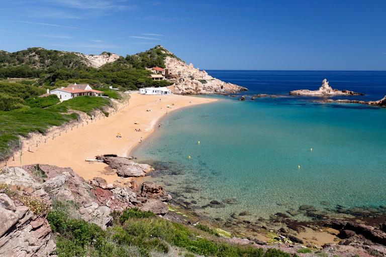 Cala Pregonda, near Fornells,  North Coast, Menorca, Balearic Islands, Spain, Europe