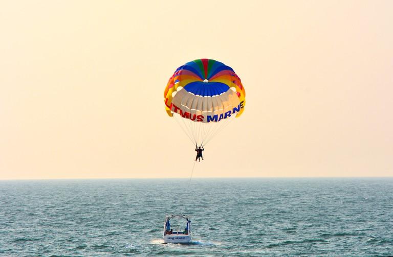 Parsailing at Goa