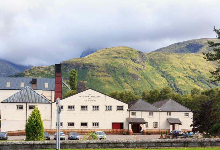 Beneath the mountain itself, shrouded by clouds, on the edge of Fort William is the Ben Nevis Distillery and Visitor Centre