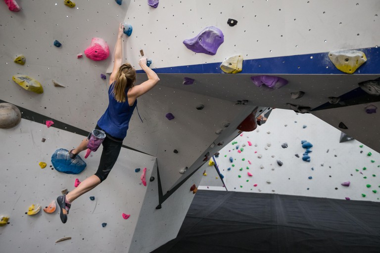 Manchester, UK. 22nd Mar, 2016. Climbers using the facilities at ?The Depot? indoor bouldering centre in Manchester UK. According to Sport England, the popularity of indoor climbing is increasing and has now overtaken its traditional outdoor counterpart: