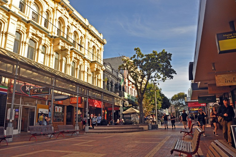 Cuba Street in Wellington New Zealand