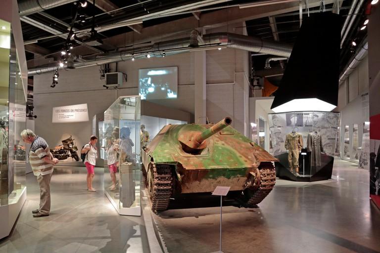 A Czech Republic Char Hetzer (P38) tank in the Bastogne War Museum, Bastogne, Belgium.