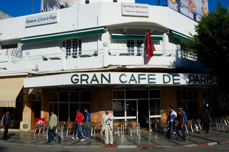 Morocco, Tangier  Grand Cafe de Paris new city