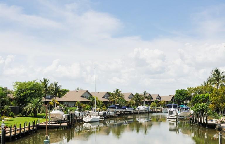 Sanibel Island Florida Marina Waterfront Home and Boats