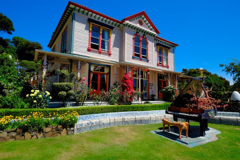 Giant's House Akaroa New Zealand NZ Banks Peninsula South Island Canterbury Region. Image shot 1000. Exact date unknown.