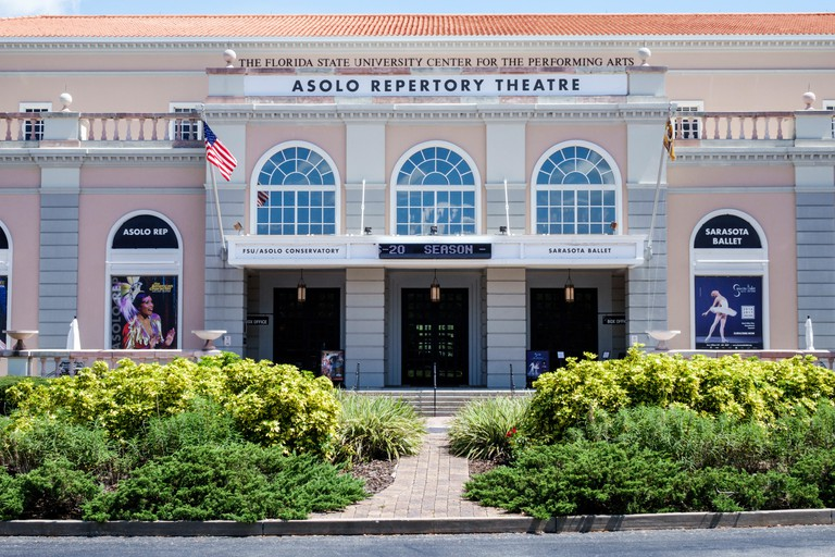 Florida, South, Sarasota, Florida State University Center for the Performing Arts, Asolo Repertory Theatre, Sarasota Ballet, performance venue, buildi