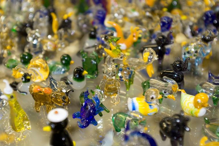 Glass figures at Gordiola Manufaktur Majorca