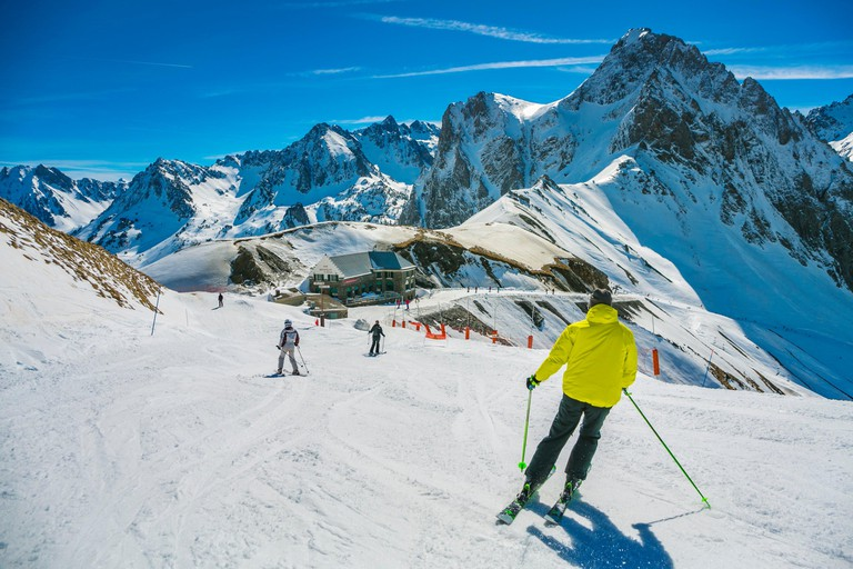 Grand Tourmalet ski area. La Mongie ski resort. Luz-Saint Sauveur. Hautes-Pyrenees Department. Midi-Pyrenees Region. France.