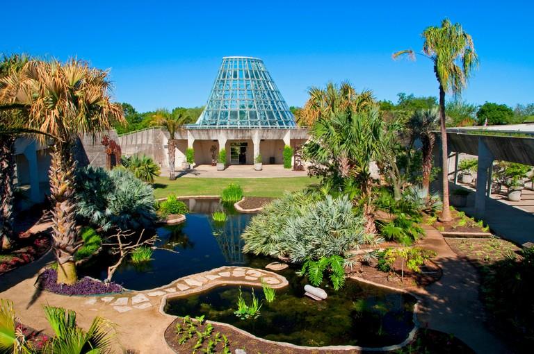 Lucile Halsell Conservatory, San Antonio Botanical Garden, San Antonio, Texas.