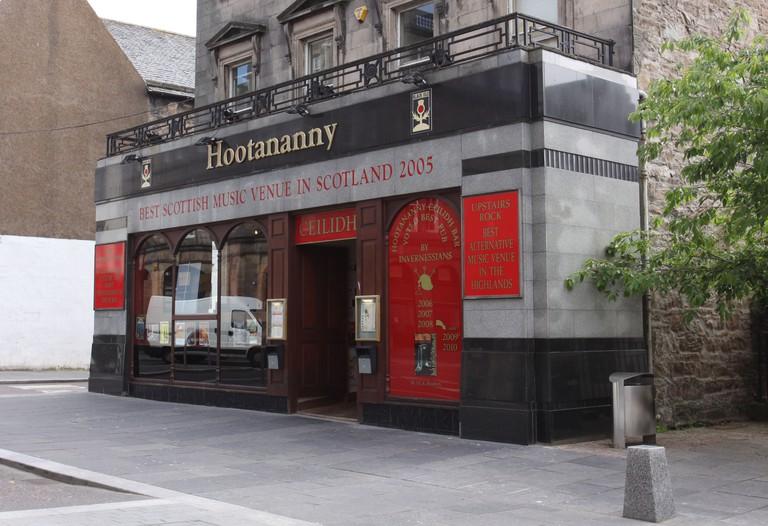 Exterior of Hootananny music venue Inverness Scotland  June 2010