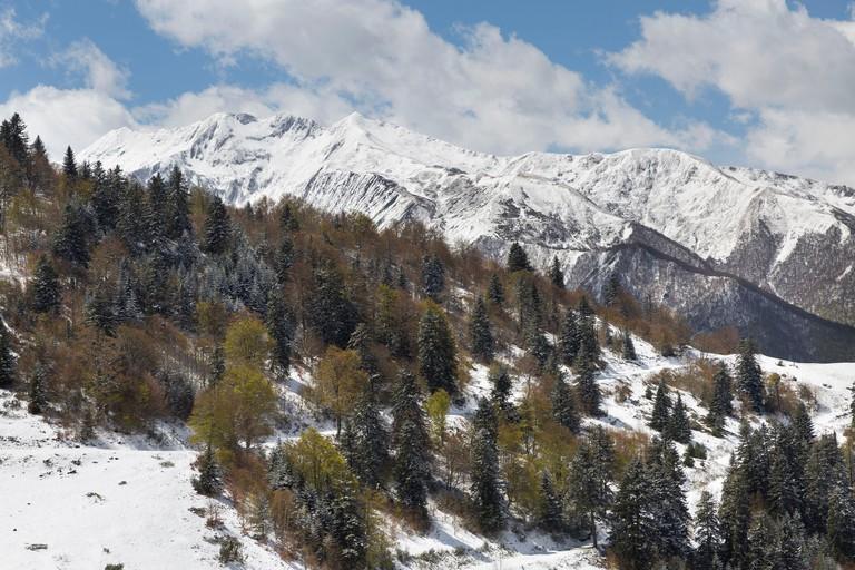 France, Ariege, Ustou, Guzet Neige ski station