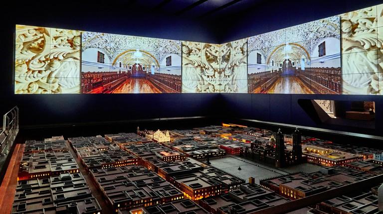 Mexico, Puebla town, Model of the city of Puebla de los Angeles in the International Museum of the Baroque.