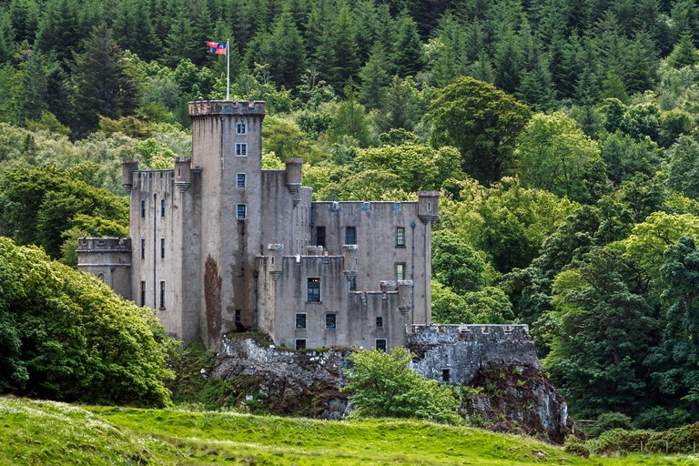 Dunvegan Castle, home of the Chiefs of Clan MacLeod on the Isle of Skye, Scottish Highlands, Scotland