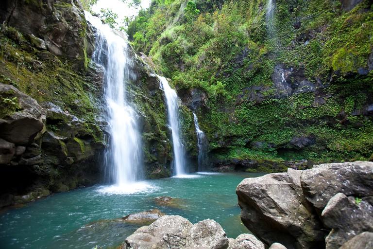 Waikani Falls (three bears falls), Maui, Hawaii