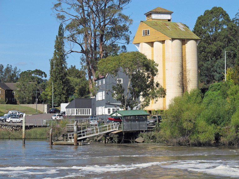 Ritchie?s Mill originally a flour mill, built in the 1830s, now housing eating establishments and other businesses. Launceston, Tasmania, Australia