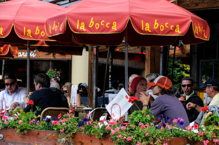 La bocca, an Italian bar /restaurant in Village Stroll off Whistler village square, eatery, Whistler, British Columbia, Canada, Whistler travel, Canad