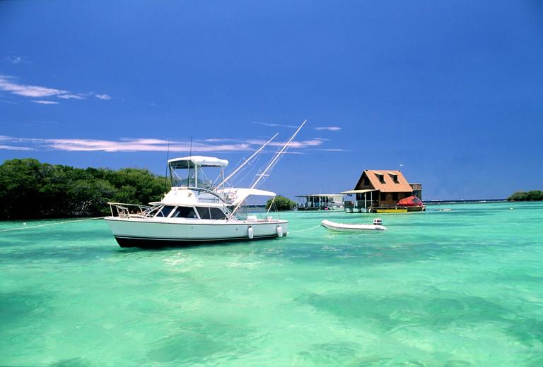 Puerto Rico, lagoon of La Parguera sea resort