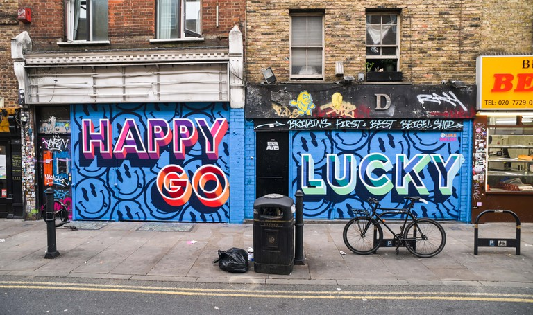 Luke Smile - London Mural Festival - 151 Brick Lane, Shoreditch, E1 6SB-