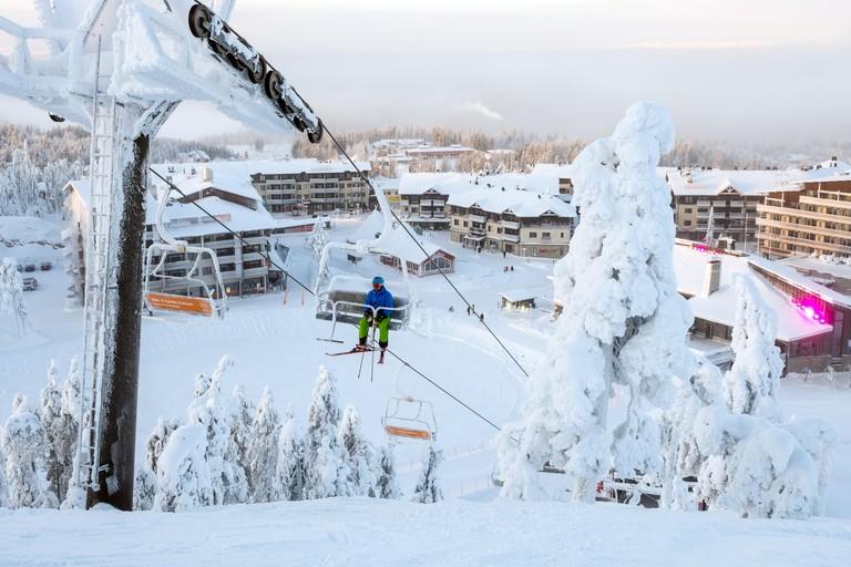 The ski resort of Ruka in Finland